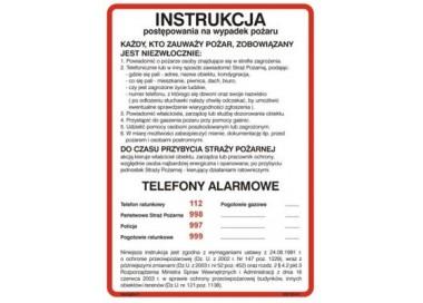 Instrukcja alarmowania (222 XO-01)
