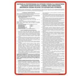 Instrukcja postępowania na wypadek pożaru dla magazynów i składów gazów palnych (222 XO-04)
