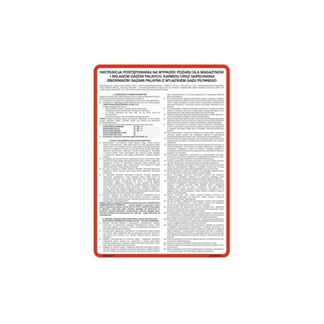 Instrukcja postępowania na wypadek pożaru dla budynków magazynowych z materiałami niebezpiecznymi (222 XO-07)
