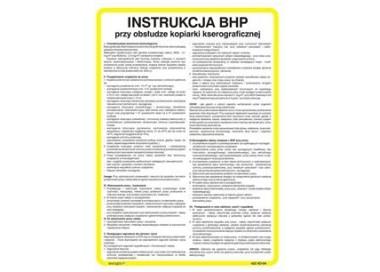 Instrukcja BHP przy obsłudze trzonu kuchennego gazowego (422 XO-185)