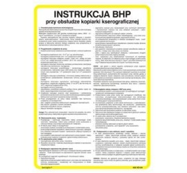 Instrukcja BHP przy obsłudze piekarnika (422 XO-193)