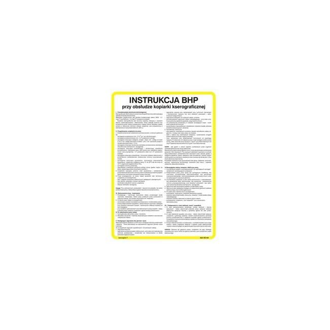 Instrukcja BHP dla pracowników zatrudnionych w handlu art. przemysłowymi (422 XO-80)