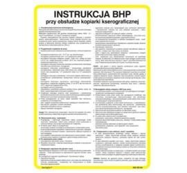 Instrukcja BHP przy obsłudze kasy fiskalnej (422 XO-85)