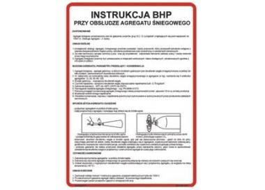 Instrukcja BHP przy obsłudze agregatu śniegowego (422 XO-143)