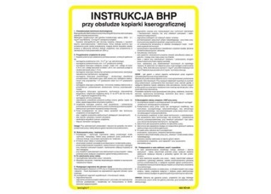 Instrukcja BHP przy obsłudze krajarki jednonożowej (422 XO-166)