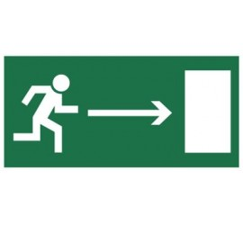 Znak kierunek do wyjścia drogi ewakuacyjnej (w prawo) (102)