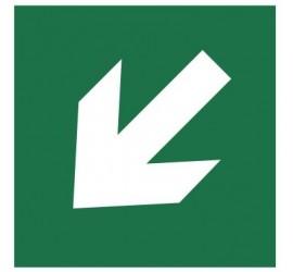 Znak kierunek drogi ewakuacyjnej (znak do stosowania tylko z innymi znakami) (113)