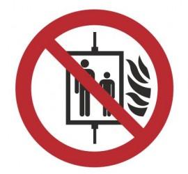 Znak nie używać dźwigu w...