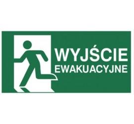Znak wyjście ewakuacyjne w lewo (E01-WE)