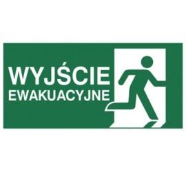 Znak wyjście ewakuacyjne w prawo (E02-WE)
