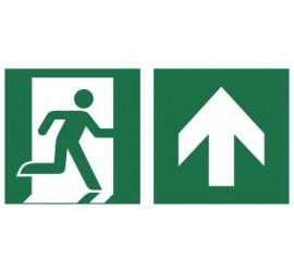 Znak łączony wyjście ewakuacyjne ze strzałką (E02-0GG)