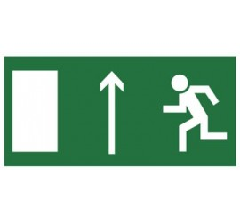 Znak kierunek do wyjścia drogi ewakuacyjnej w górę (znak uzupełniający) (101-01)