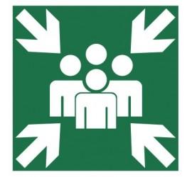 Znak miejsce zbiórki do ewakuacji (120-10)