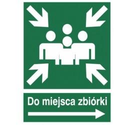 Znak do miejsca zbiórki (w prawo) (120-11)