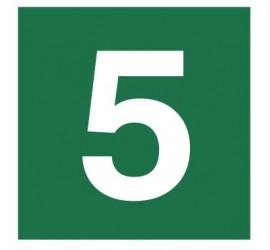 Znak stacja ewakuacyjna nr 5 (120-18)