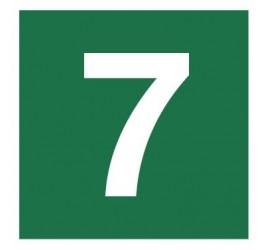 Znak stacja ewakuacyjna nr 7 (120-20)