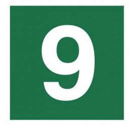 Znak stacja ewakuacyjna nr 9 (120-22)