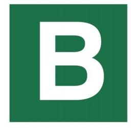 Znak stacja ewakuacyjna nr B (120-24)