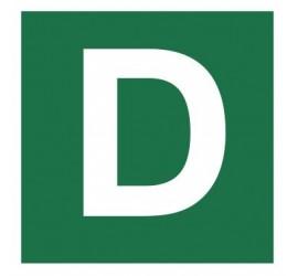 Znak stacja ewakuacyjna nr D (120-26)