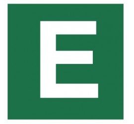 Znak stacja ewakuacyjna nr E (120-27)