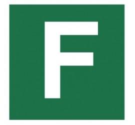 Znak stacja ewakuacyjna nr F (120-28)