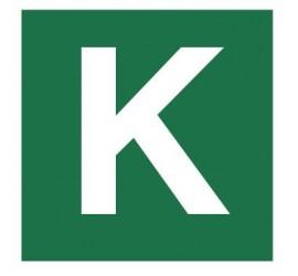 Znak stacja ewakuacyjna nr K (120-33)