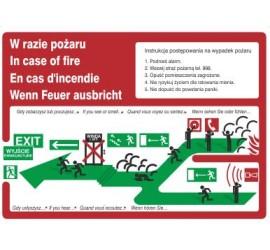 Znak instrukcja piktograficzna schodami w górę w lewo (222 XK-60)