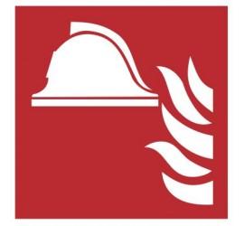 Zestaw sprzętu ochrony przeciwpożarowej PN-EN ISO 7010 (F04)