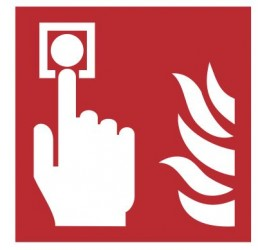 Znak alarm pożarowy PN-EN ISO 7010 (F05)