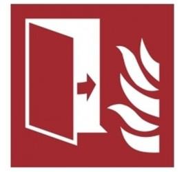 Znak drzwi przeciwpożarowe PN-EN ISO 7010 (F07)