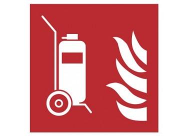 Znak gaśnica przewoźna PN-EN ISO 7010 (F09)