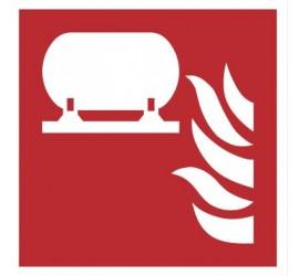 Znak stała instalacja gaśnicza wg PN-EN ISO 7010 (F12)