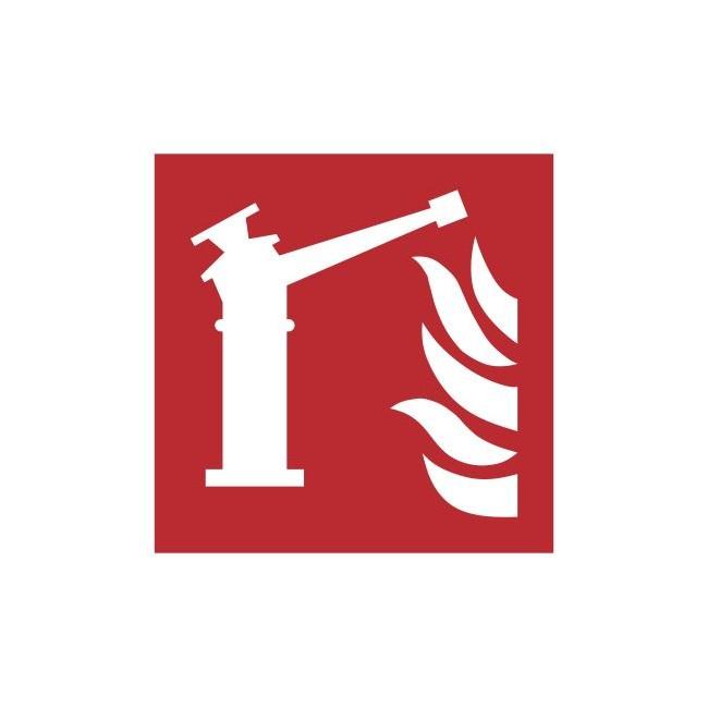 Znak działko gaśnicze wg PN-EN ISO 7010 (F15)