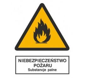 Znak niebezpieczeństwo pożaru - substancje palne (214-01)