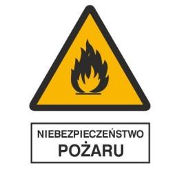 Znak niebezpieczeństwo pożaru (214-02)