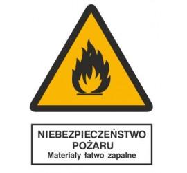 Znak niebezpieczeństwo pożaru - materiały łatwo zapalne (215)
