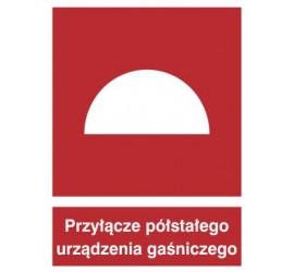 Znak przyłącze półstałego urządzenia gaśniczego (229)