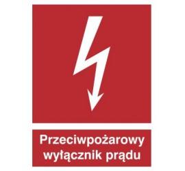 Znak przeciwpożarowy wyłącznik prądu (219)