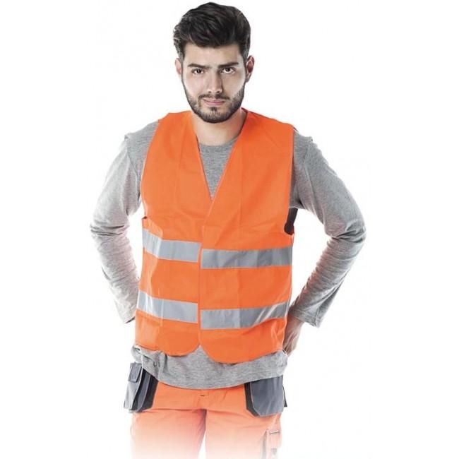 Kamizelka ostrzegawcza Reis KOS-5 Pomarańczowa