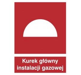 Znak kurek główny instalacji gazowej (221)