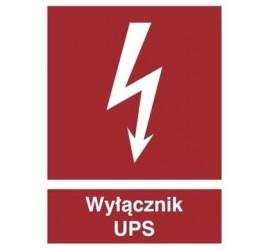 Znak wyłącznik UPS (219-05)