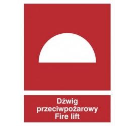 Znak dźwig przeciwpożarowy fire lift (225-01)