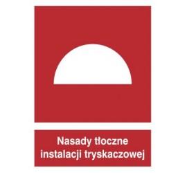 Znak nasady tłoczne instalacji tryskaczowej (228-01)