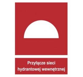 Znak przyłącze sieci hydrantowej wewnętrznej (229-01)