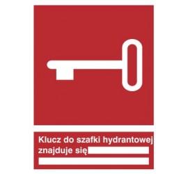 Znak klucz do szafki hydrantowej znajduje się … (230)