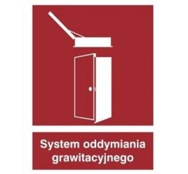 Znak system oddymiania grawitacyjnego (227-03)