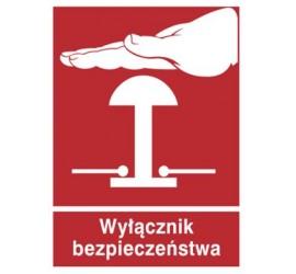 Znak wyłącznik bezpieczeństwa (854-05)