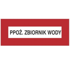 Znak PPOŻ. Zbiornik wody (231-03)