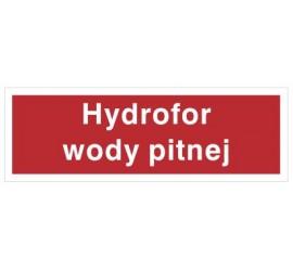 Znak hydrofor wody pitnej (808-02)