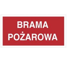 Znak brama pożarowa (812-02)